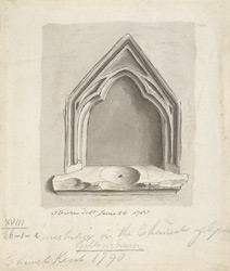[A Piscina from Gillingham Church, Kent]
